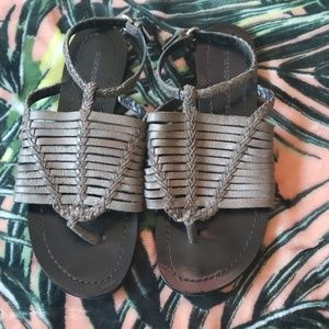 SIGERSON MORRISON Silver Sandals Size 7 1/2